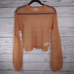 Urban outfitters open knit wool blend sweater. Med